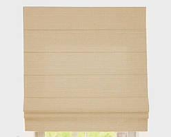 Римская штора с тканью Лен Персик ширина 40 см /высота 160 см
