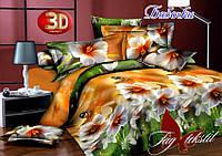 Двуспальный постельный комплект, хлопок ранфорс, Бабочки