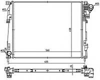 Радиатор  Renault Trafic Opel Vivaro Nissan Primastar 2.0 CDTI 06->(плоские соты) 4416948