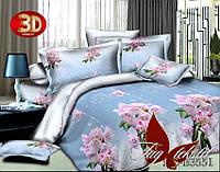 Постельное  белье, семейный комплект, поликоттон ,  пододеяльник (2 шт) 145x215,    3D, HLB3551