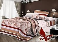 Комплект постельного белья, двуспальный, ткань поликоттон, XHY1208