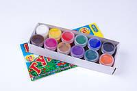 """Гуаш """"Люкс Колор"""" 12 кольорів,№ФГ-12,16 ml, фарби дитячі в картон. упаковці, фото 1"""