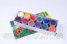 """Гуашь """"Люкс Колор"""" 12 цветов,№ФГ-12,16 ml, краски детские в картон. упаковке"""