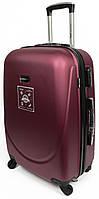 Четырехколесный чемодан малого размера из ABS пластика 36 л. Wings 68935 bordo, бордовый