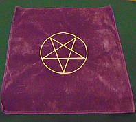 Скатерть фиолетовая Пентаграмма