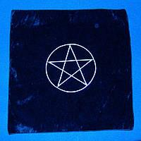 Скатерть черная Пентаграмма