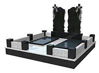 """Двойной памятник из гранита с крестом """"Гранитный век"""""""