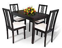Комплект Оптим (стол + 4 стула) из натурального дерева