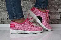 Кроссовки текстильные розовые, фото 1