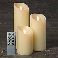 Электронные свечи D85 с имитацией пламени и пультом управления набор