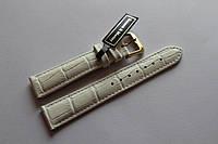 Кожаный ремень Bennett&Murray-ремень из натуральной кожи белый под крокодил 18 мм