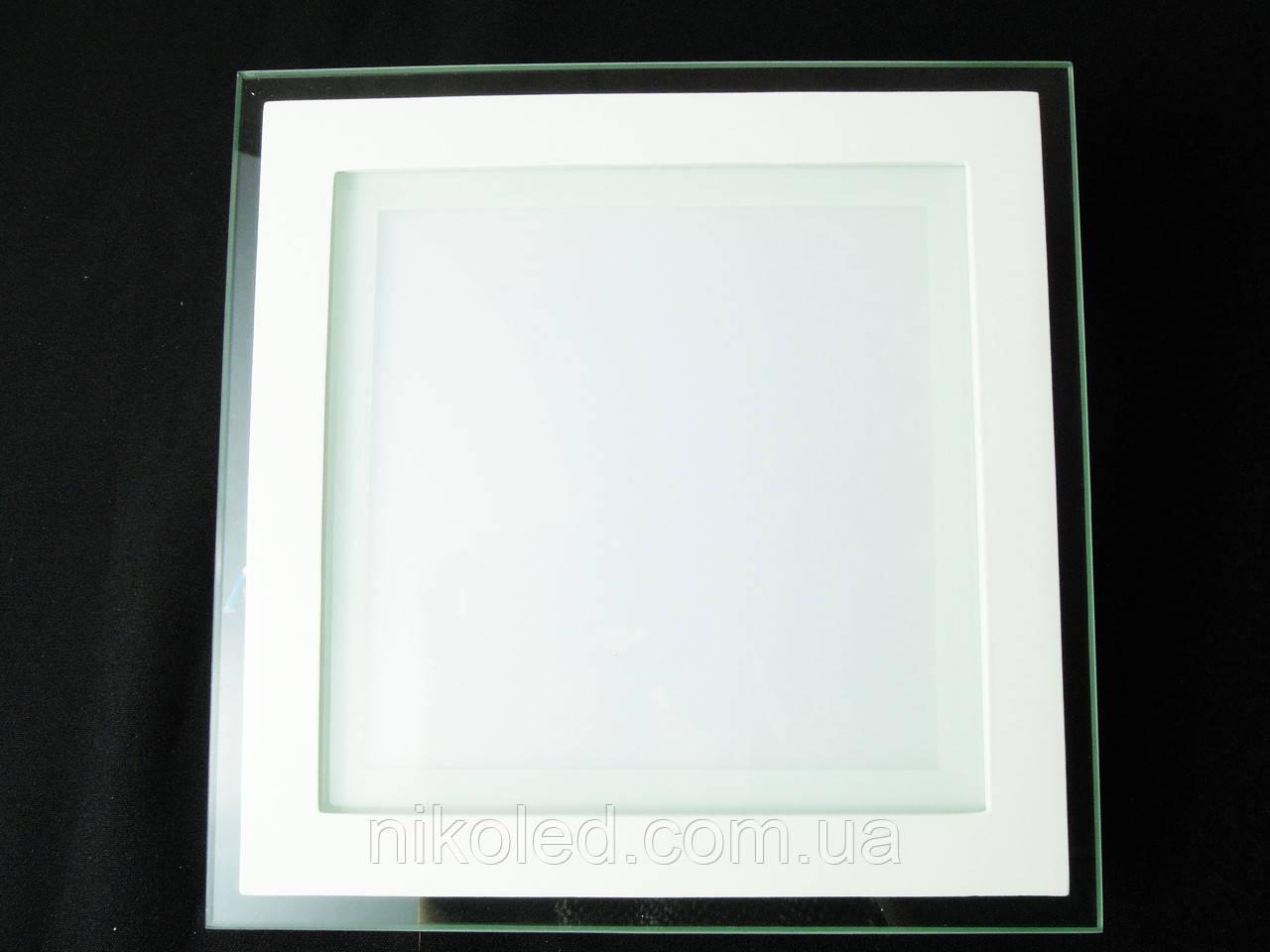 Светильник точечный Стекло LED 18W квадрат