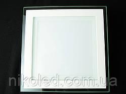 Светильник точечный Стекло LED 18W квадрат нейтральный белый