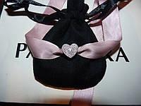 Pandora серебряный шарм с камнями Сердце Пандора