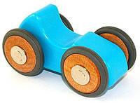 Микро машинка 1 корпус, 4 колеса (синяя) Tegu (M-12-055)