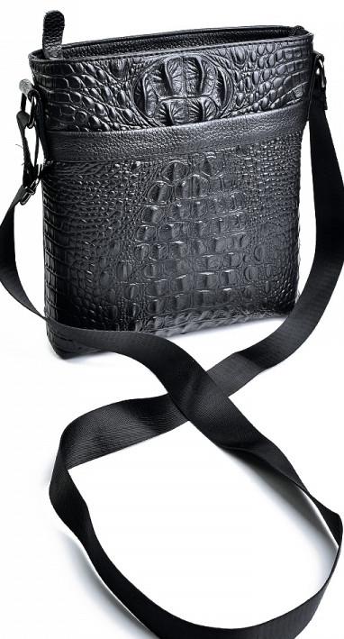 ee692a366d91 ... Мужская сумка из натуральной кожи с крокодиловой отделкой , фото 3 ...