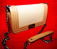 Миниатюрный оригинальный женский клатч Chanel Le Boy ( Шанель Бой) под рептилию. Хорошее качество.  Код: КГ975