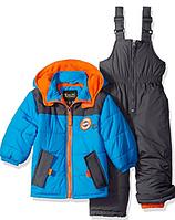 Зимний раздельный комбинезон серый с голубым iXtreme (США) для мальчика 3-6 лет