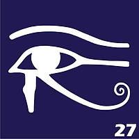 Трафарет для временного тату №27