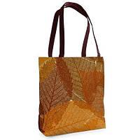Большая сумка Нежность с принтом Осенние листья