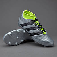 Футбольные бутсы adidas ACE 16.3 Primemesh FG/AG Silver Metallic/Core Black/Solar Yellow