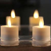 """Электронные свечи """"чайные"""" с имитацией пламени набор"""