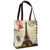 Большая сумка Нежность с принтом Париж