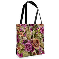 Большая сумка Нежность с принтом Цветочный букет