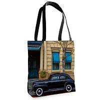 Большая сумка Нежность с принтом Авто
