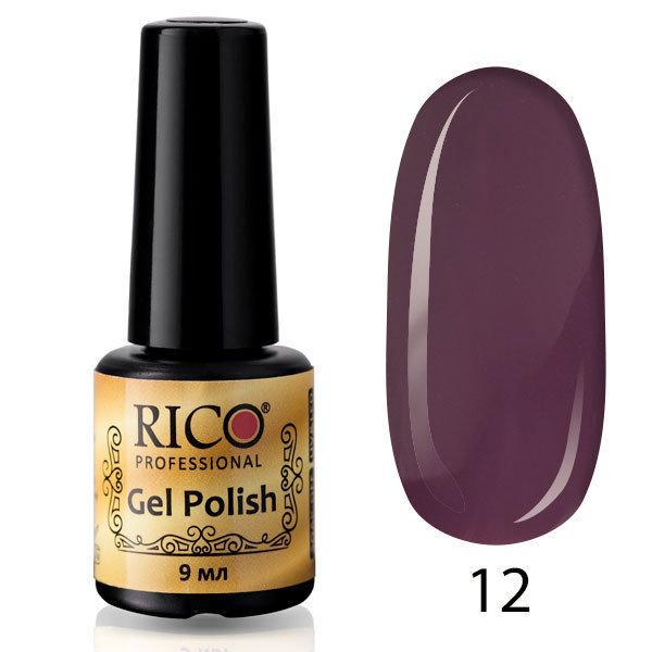 Гель-лак Rico Professional № 12, Сливовый, эмаль, 9 мл