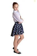 Подростковая юбка клетка р. 128-146
