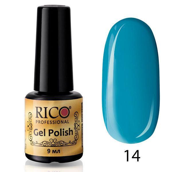 Гель-лак Rico Professional № 14, Голубой, эмаль, 9 мл