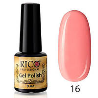 Гель-лак Rico Professional № 16, Нежный розовый, эмаль, 9 мл