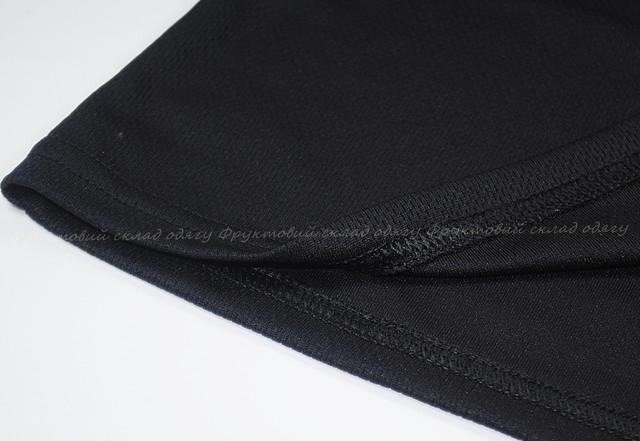 Чёрная женская спортивная футболка