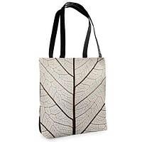 Большая сумка Нежность с принтом Белый листок