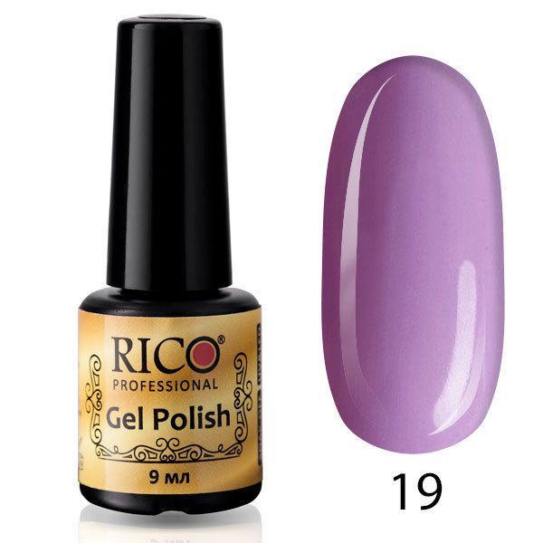 Гель-лак Rico Professional № 19, Сиреневый с микроблеском, 9 мл