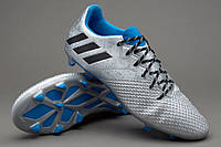 Футбольные бутсы adidas Messi 16.3 FG Silver Metallic/Core Black/Shock Blue, фото 1
