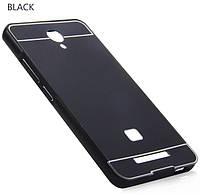Пластиковый бампер PC + алюминиевая рамка для Xiaomi Redmi Note 2. Пленка в подарок.