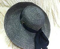 Шляпа с большими полями  с шарфом