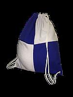 Рюкзак габардин клетка для сублимации цвет Синий