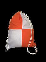 Рюкзак габардин клетка для сублимации цвет Оранжевый