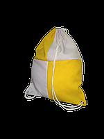 Рюкзак габардин клетка для сублимации цвет Желтый