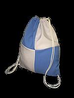 Рюкзак габардин клетка для сублимации цвет Голубой