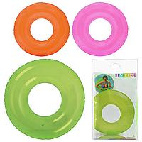 Надувной круг для плавания «Прозрачный однотонный» | «Intex»