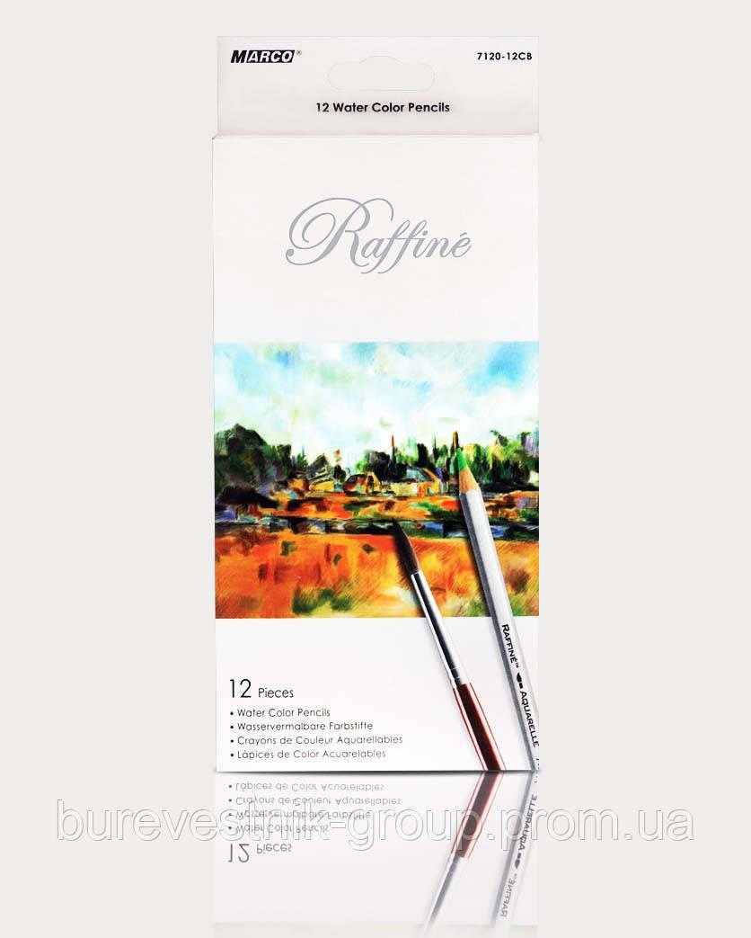 """Цветные акварельные карандаши Marco """"Raffine"""" 12цв"""