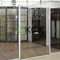 Двери распашные из безопасного стекла