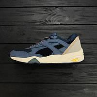 Мужские кроссовки Puma Trinomic R698 str blue. Живое фото. Топ качество (пума триномик) 41