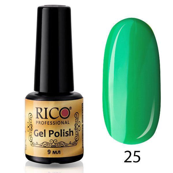 Гель-лак Rico Professional № 25, Зеленый, эмаль, 9 мл