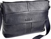 Мужская деловая сумка на плечо из натуральной кожи