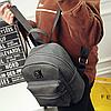 Модный серый рюкзак, фото 3